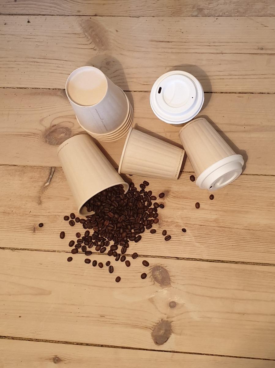 Kaffekopper i bambuspapir
